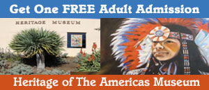 Free Adult Admission to Heritage of the Americas Museum