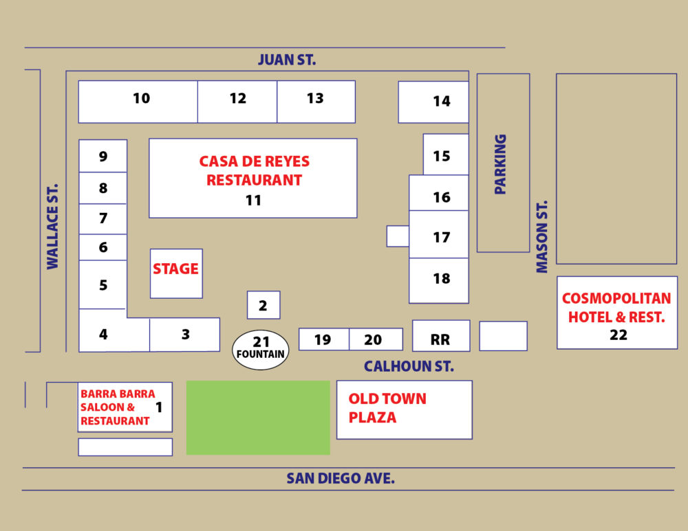 old town fiesta de reyes map