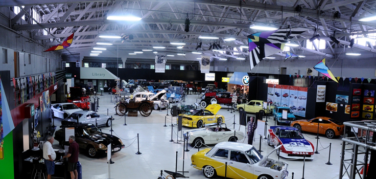 Featuring more than 80 historic automobiles and motorcycles.