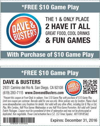 image regarding Dave and Busters Coupons Printable called Dave and busters printable discount codes december 2018 / Wcco