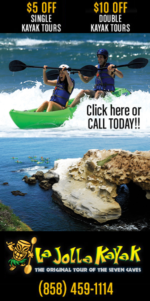 La Jolla Kayak Coupon banner