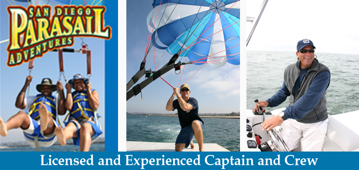 San Diego Parasail Adventures staff and captain