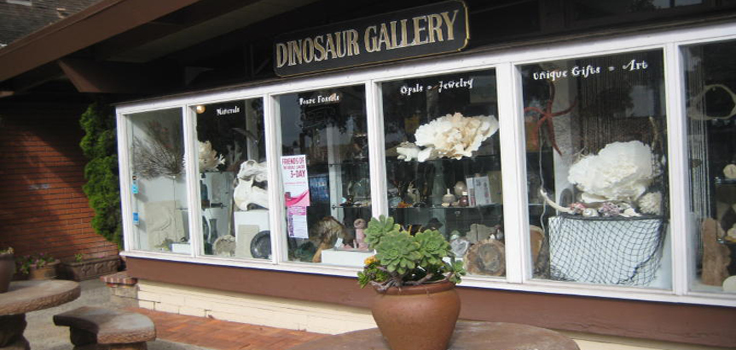 dinosaur gallery store front