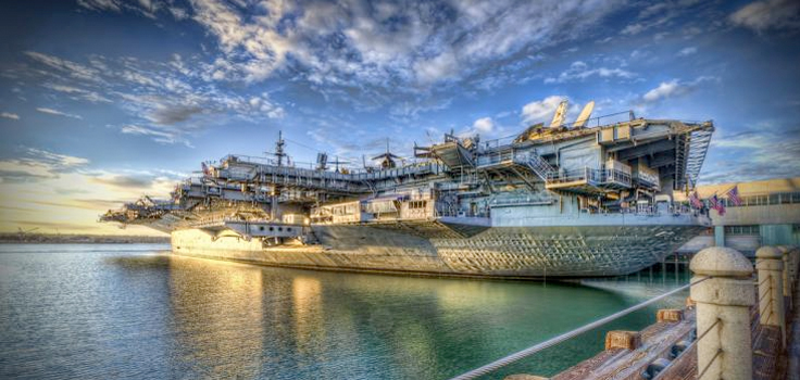 watercolor uss midway