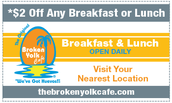 Coupon for Broken Yolk Café