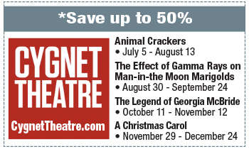 Coupon for Cygnet Theatre