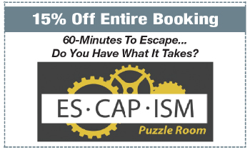 Coupon for Escapism Puzzle Room