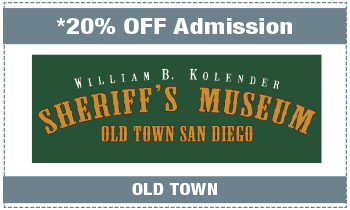 Coupon for Sheriff's Museum • Old Town