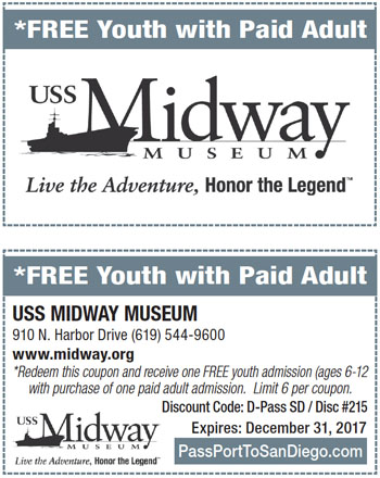 Midway museum discount coupons