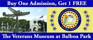Veterans Museum San Diego Admission Coupon