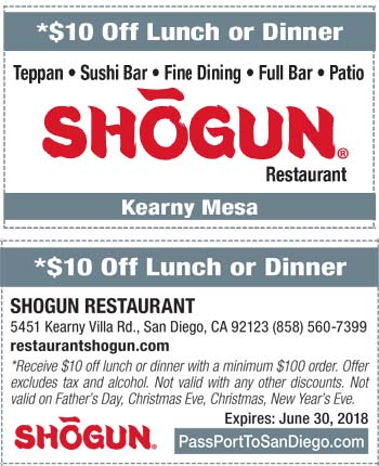 photograph about Printable Coupons Shogun known as Discount coupons for shogun cafe / 602 coney island ave