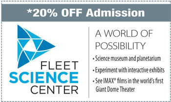 Coupon for Fleet Science Center