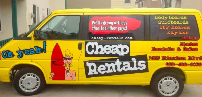 cheap rental van