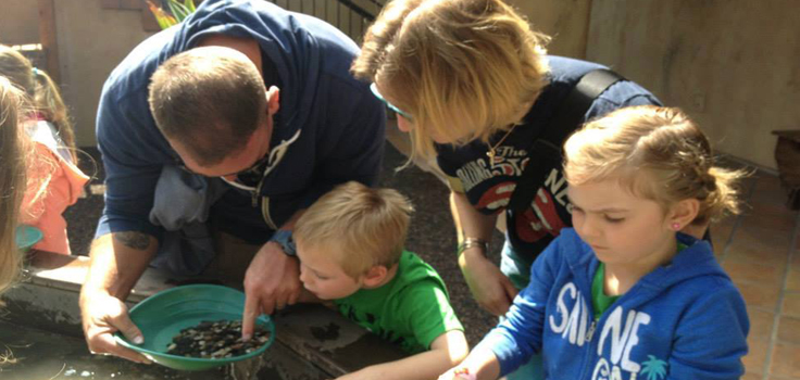 family-panning for gold