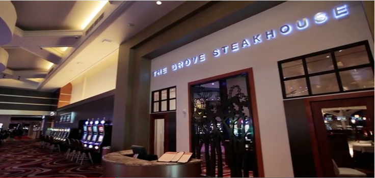 the grove steakhouse entrance
