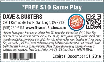 dave and busters printable coupons dave and buster deals lamoureph 21305 | dave busters coupon back