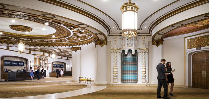 new renovated lower lobby