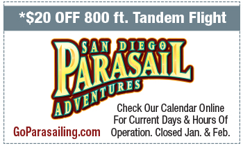 Coupon for San Diego Parasailing Adventures