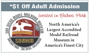 Coupon for San Diego Model Railroad Museum