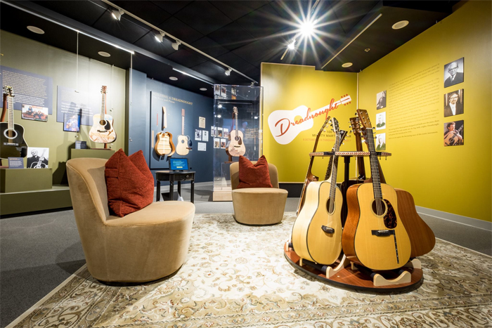 museum of making music exhibit celebrates the dreadnought guitar passport to san diego. Black Bedroom Furniture Sets. Home Design Ideas
