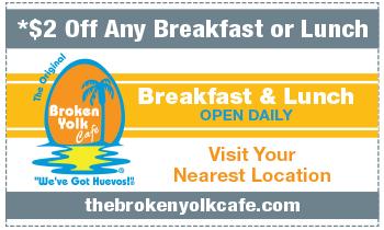 Coupon for Broken Yolk Café