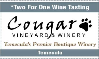 Coupon for Cougar Vineyards & Winery