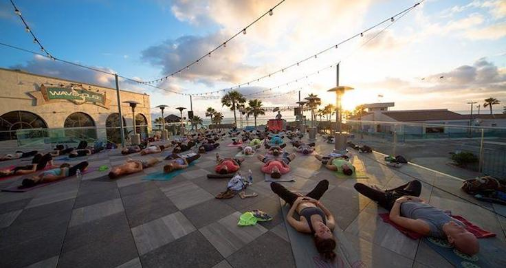 Enjoy Sunset Yoga On The Rooftop At Belmont Park