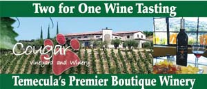 Cougar Winery Wine Tasting Coupon