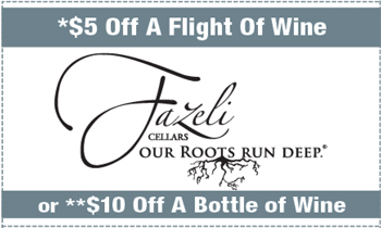 Coupon for Fazeli Cellars