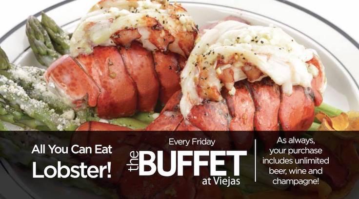 enjoy all you can eat lobster buffet at viejas casino resort every rh passporttosandiego com Viejas Buffet Menu las viejas buffet coupons