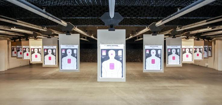 the gun range target