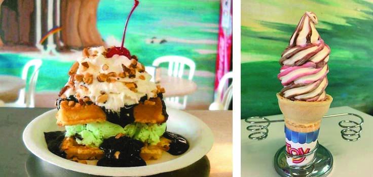 lighthouse Ice Cream waffle Sundae