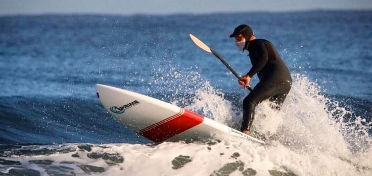 sup surfing la jolla