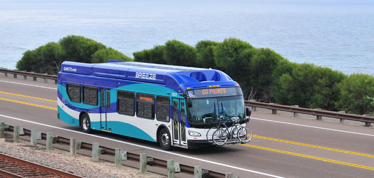 Breeze Bus North County TRansit District san diego