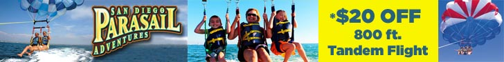 San Diego Parasail Adventures Coupon and Discount