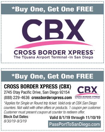 Cross Border Xpress (CBX) - PassPort to San Diego