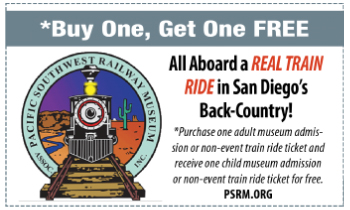 Coupon for Pacific Southwest Railway Museum
