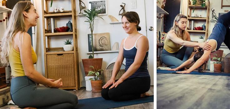 private yoga for Terri