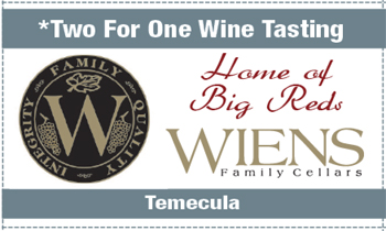 Coupon for Wiens Family Cellars