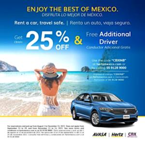 Cross Border Xpress 25% Off Car Rental