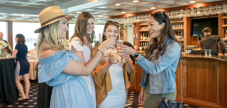 Flagship Cruises happy hour